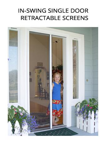 Casper Disappearing Screens in-swing single door retractable screens